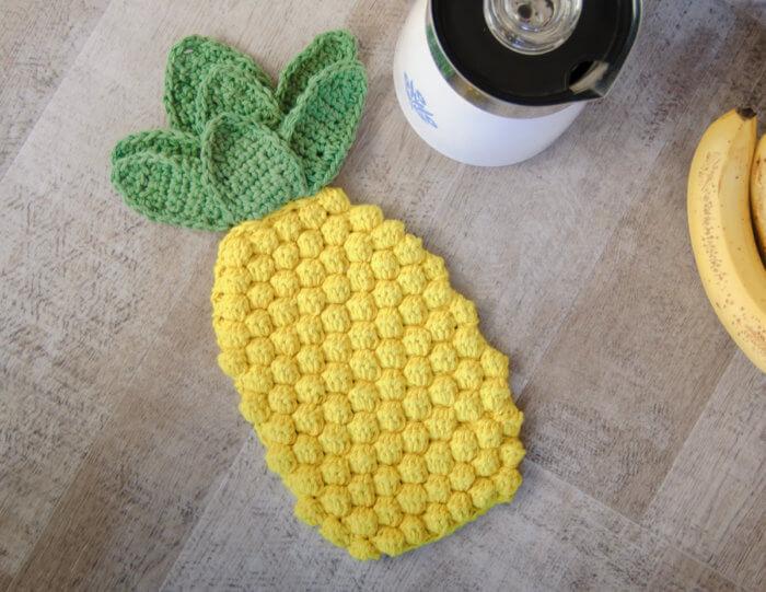 Patron chaud au crochet d'ananas