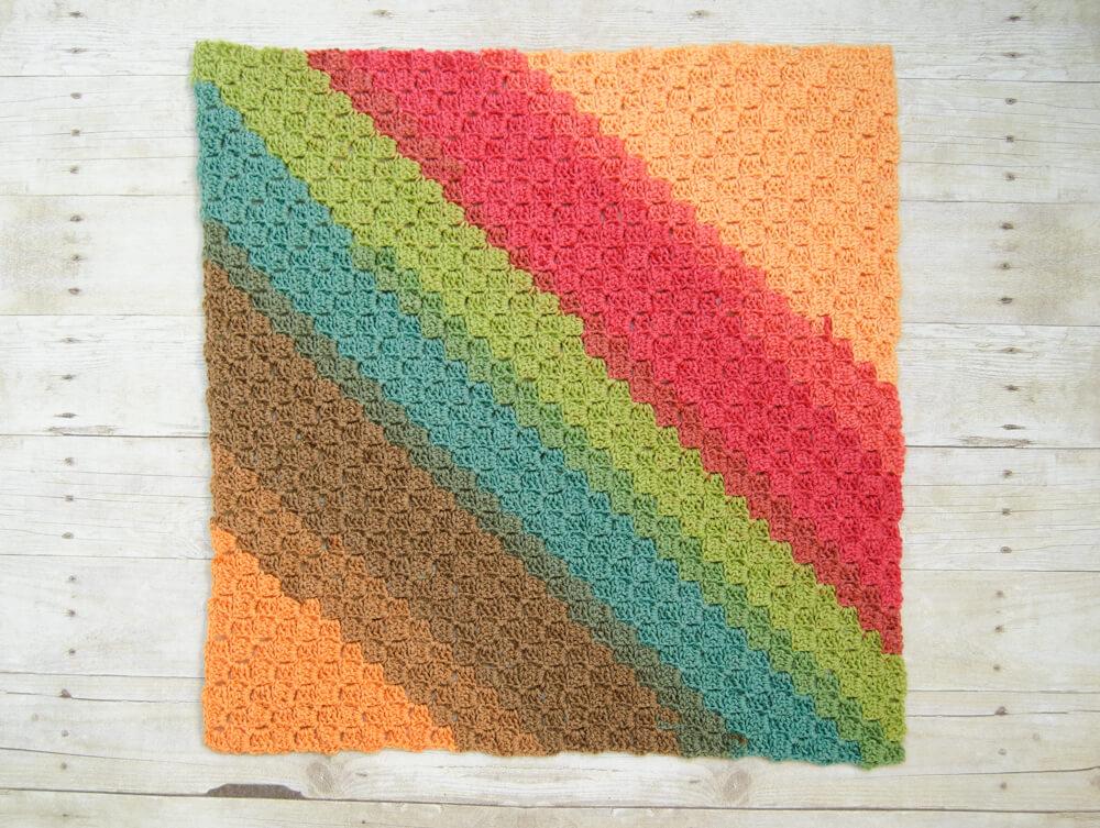 Couverture pour bébé en crochet Rise & Shine C2C