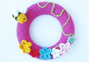 Couronne de crochet de printemps