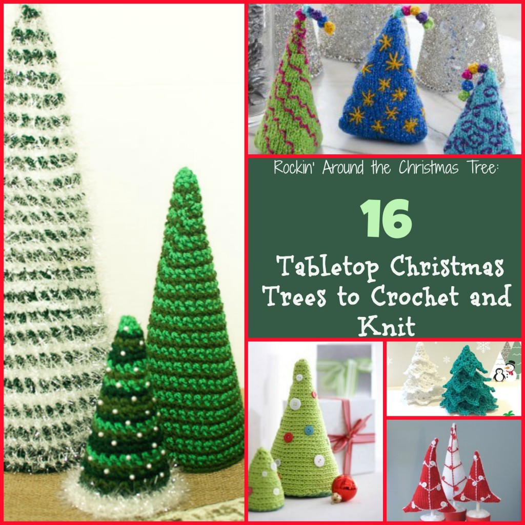 Arbres de Noël de table à crocheter et tricoter