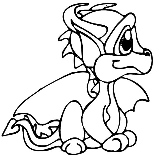coloriage dragon cub