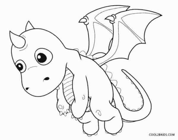 petit dragon coloriage