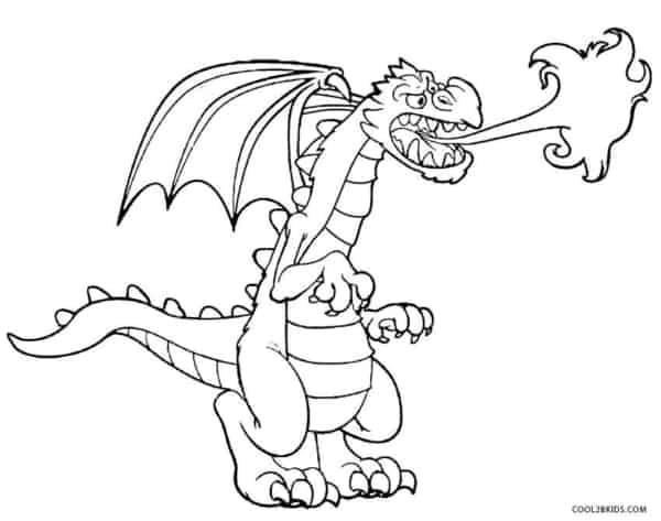 dragon, respiration, feu, coloration