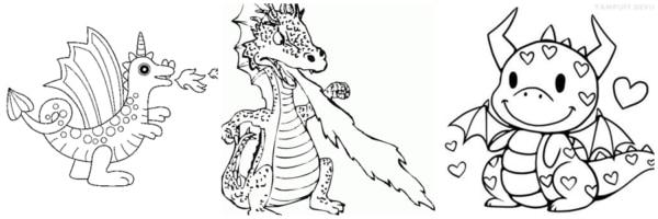 dessins de dragon gratuits