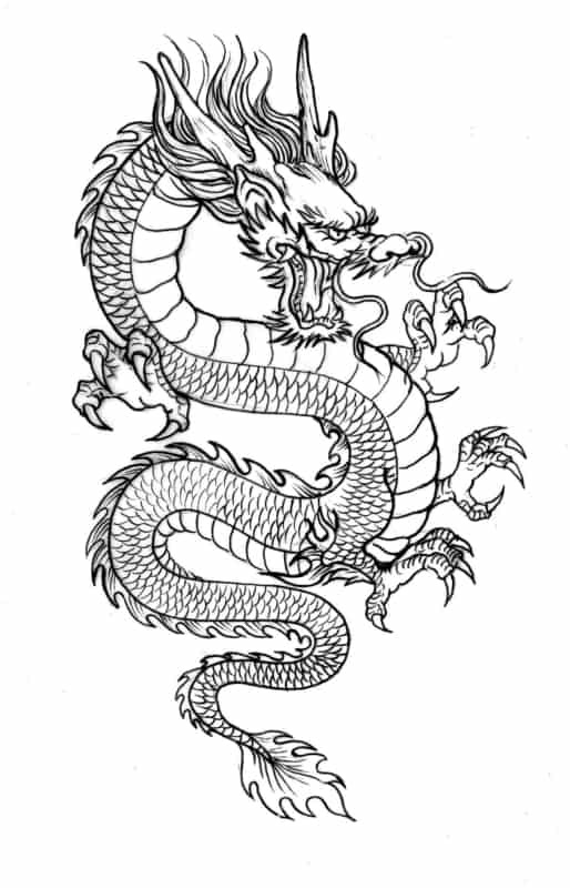 dessin de dragon à imprimer gratuitement
