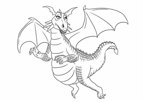 Coloriage dragon shrek