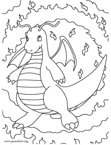 dessin de dragon pour enfants à imprimer gratuitement