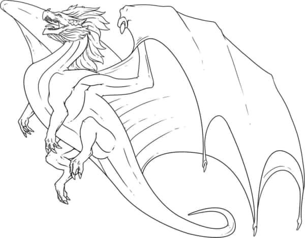 dessin animé de dragon volant