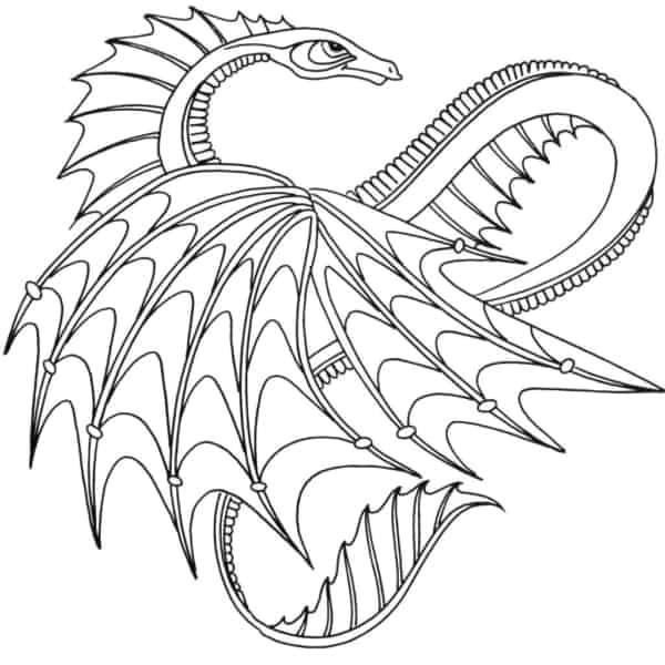 dessin animé de dragon