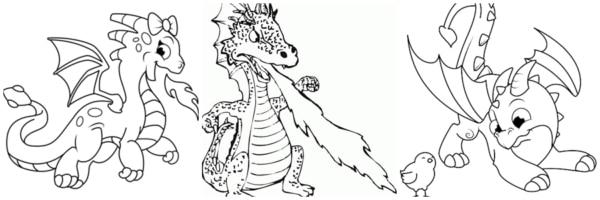 activités de dragon à peindre