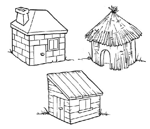 dessins-de-maisons