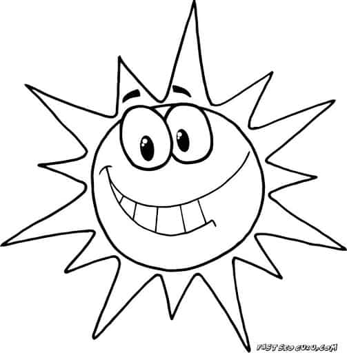 dessin de soleil amusant à peindre
