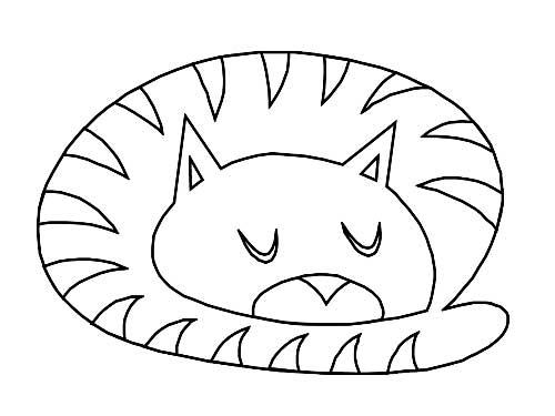 Dessins de chats à peindre