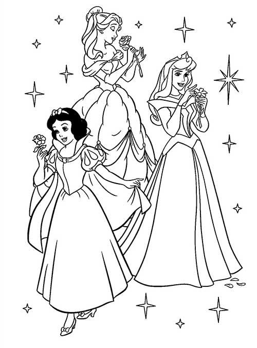 princesses à colorier