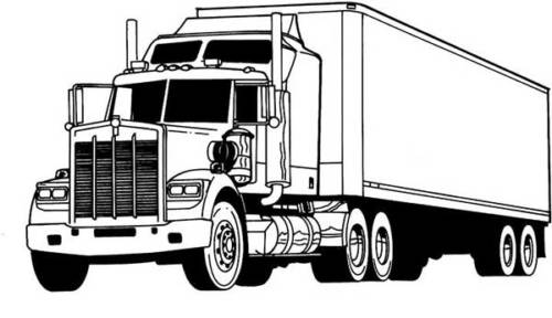coloriage de camion