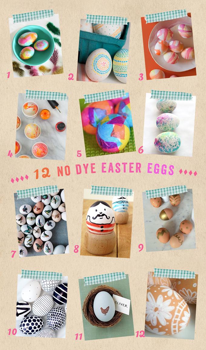 12 idées d'oeufs de Pâques sans colorant avec des enfants