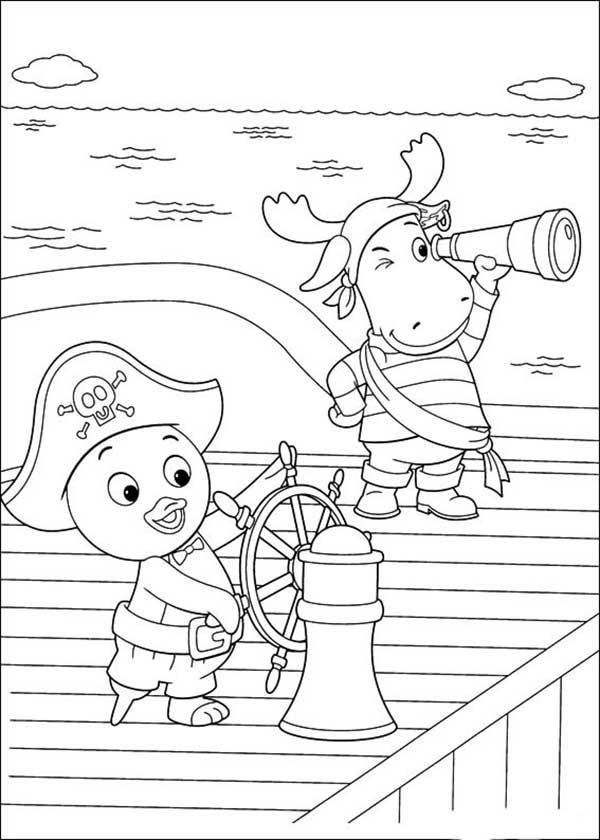 Coloriages de Backyardigans