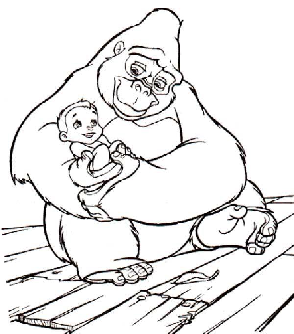 dessins de tarzan