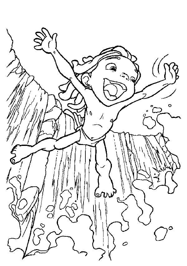 sauter dans la cascade