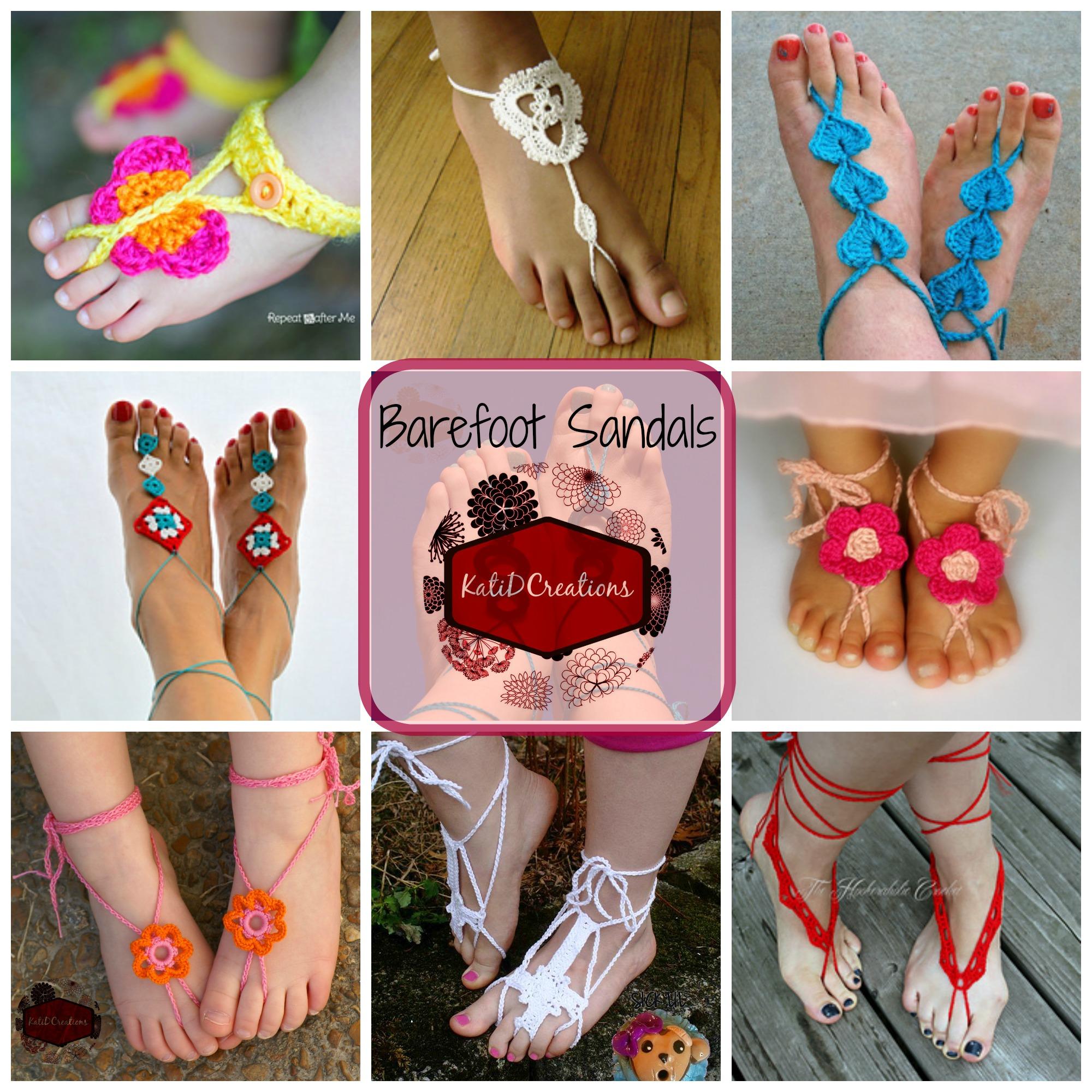 Sandales aux pieds nus