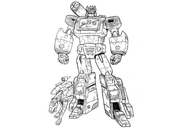 Livre de coloriage Transformers