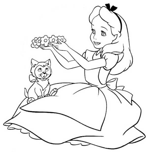 Dessins Alice au Pays des Merveilles
