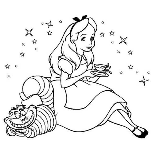 Coloriage Alice au pays des merveilles