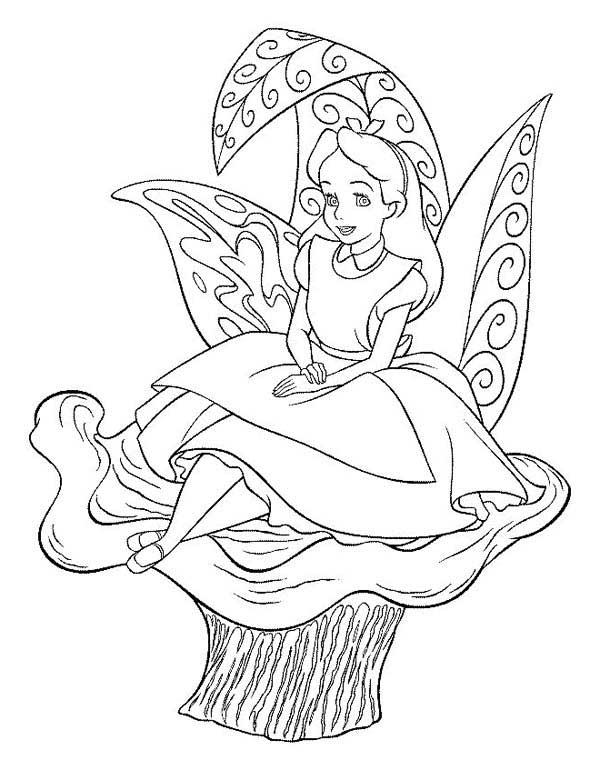 Alice à colorier