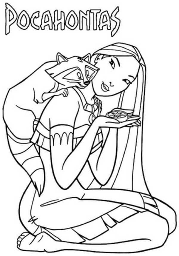 dessins de pocahontas