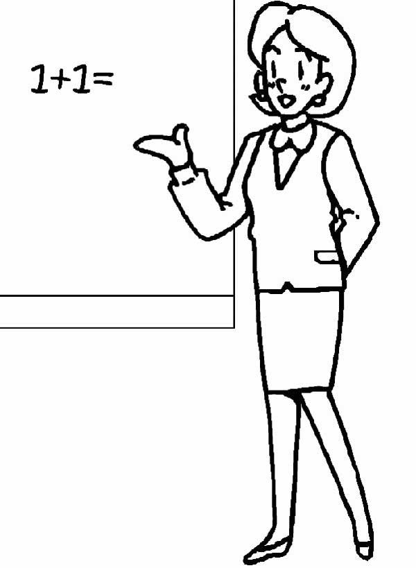 Enseignant enseignant des cours de mathématiques debout.