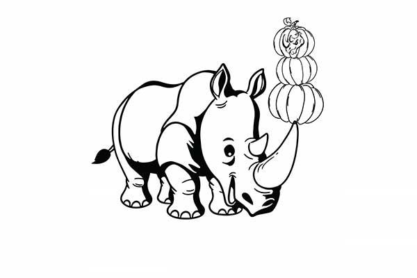 Coloriage de rhinocéros