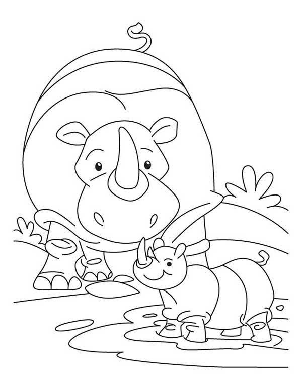 Images de dessins de rhinocéros