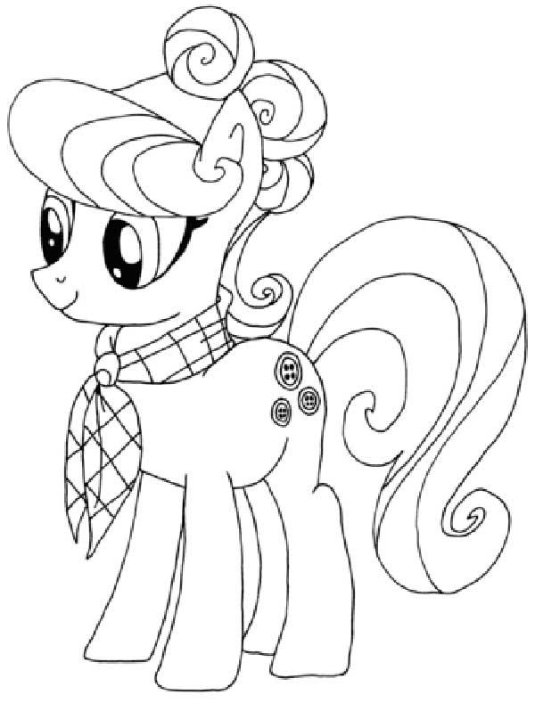 Coloriage - Mon petit poney