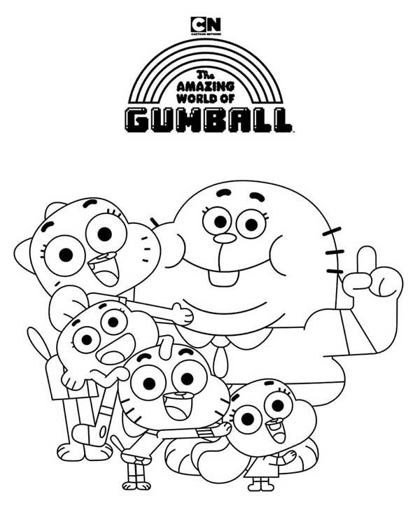 Coloriage - Le monde incroyable de Gumball
