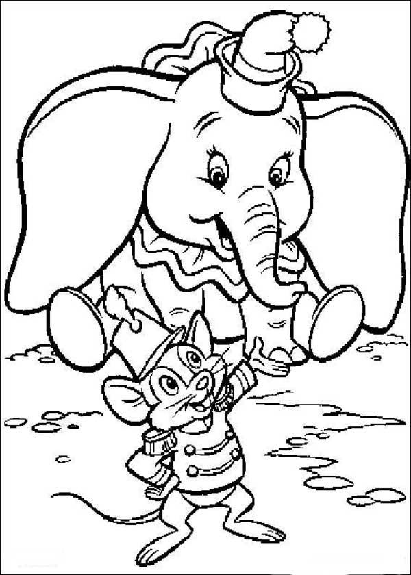 Dumbo à colorier