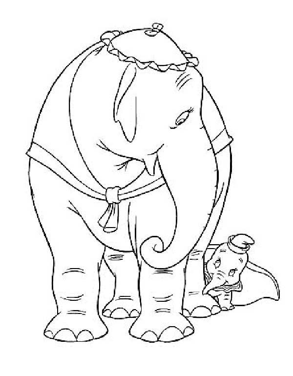 Dessins Dumbo à colorier