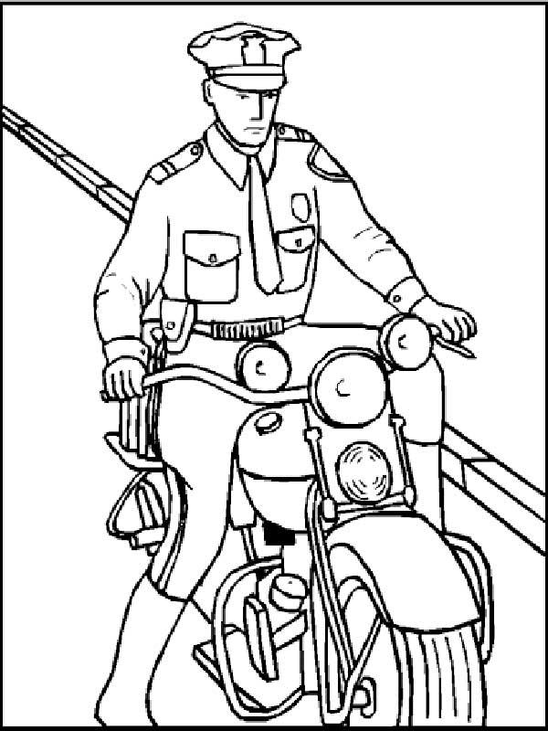 policier à colorier