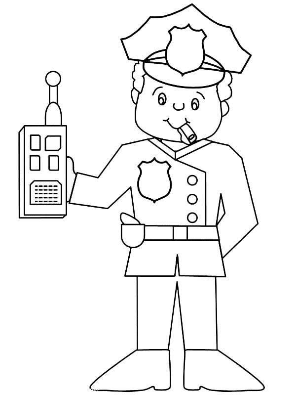 dessins de police