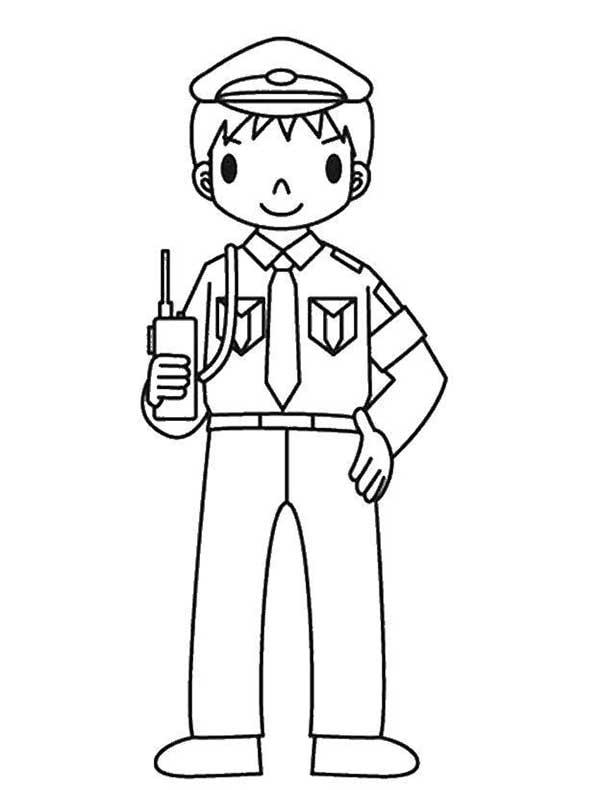 policier à imprimer