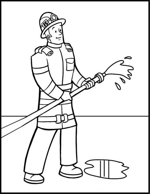 dessin de pompier