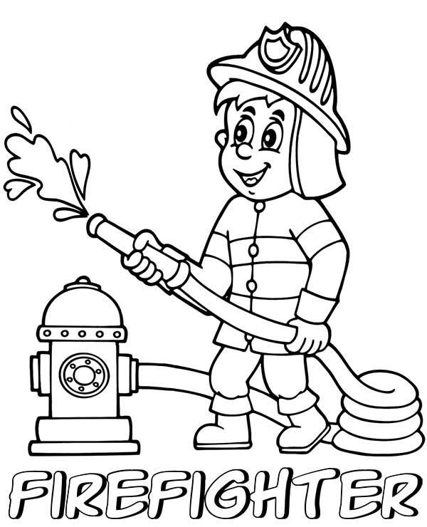 dessins de pompier
