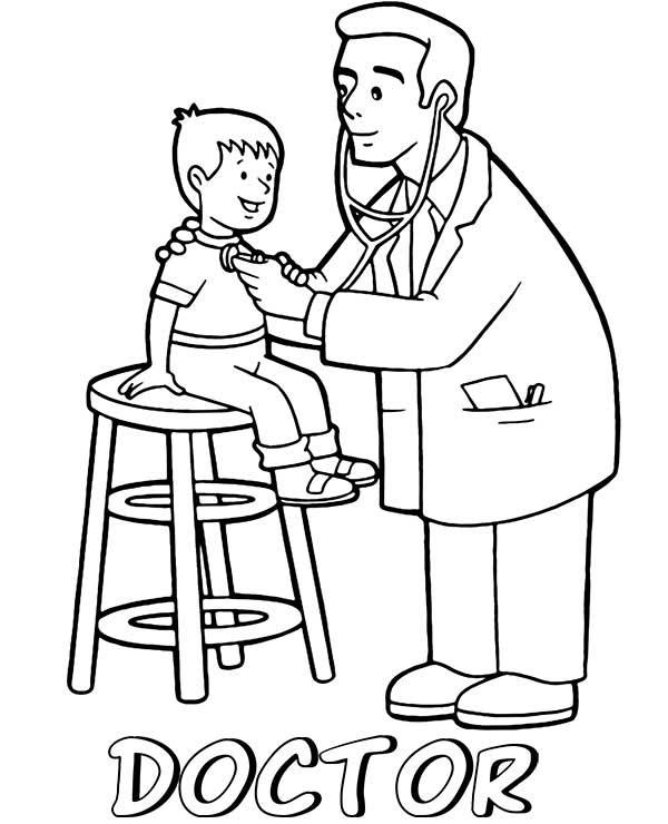 médecins à colorier
