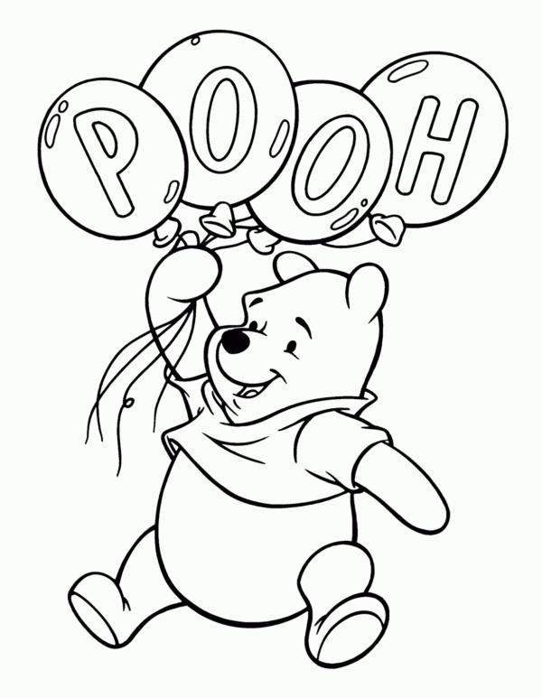 ourson en peluche avec des ballons