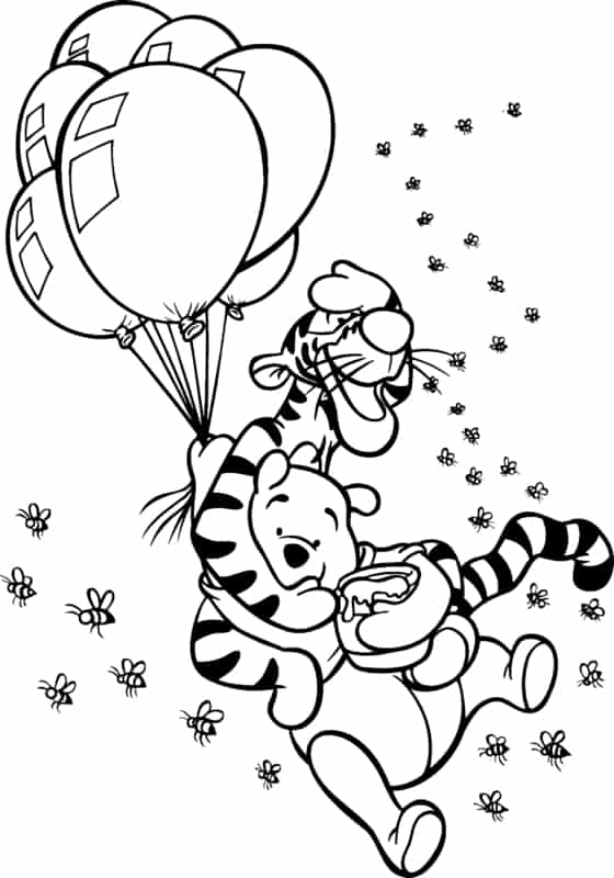 caca avec tigre et ballons