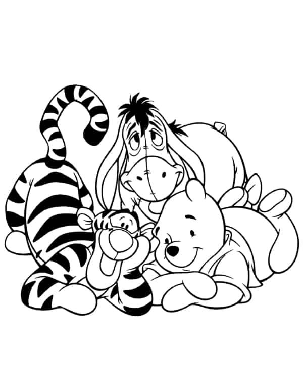 coloriage tigre yo et ourson