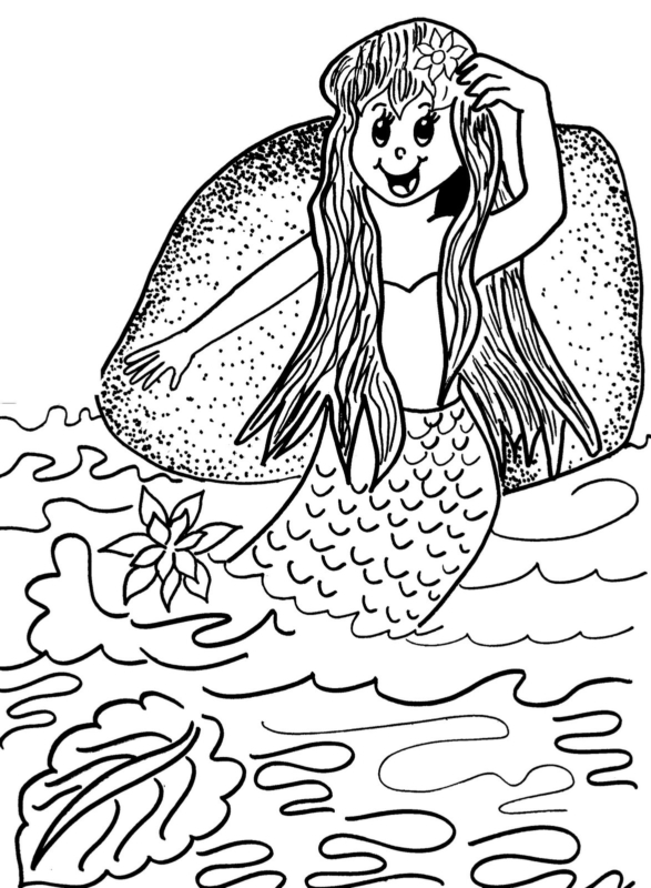 Iara dessin folklorique