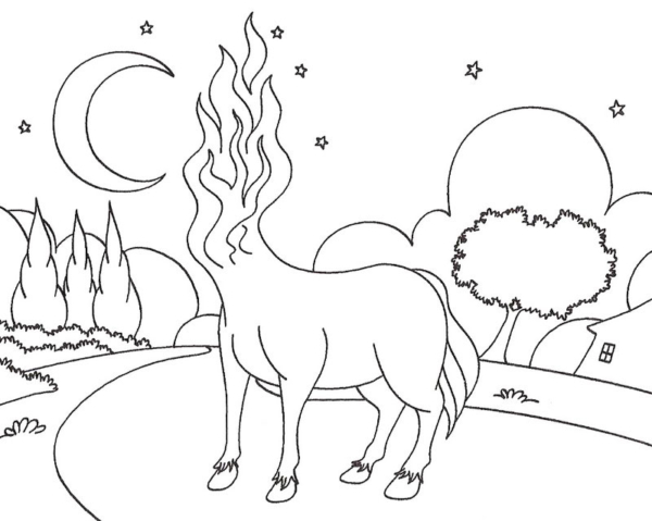 coloriage de la mule sans tête