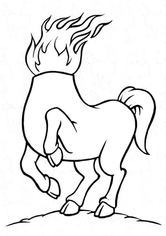 conception de la mule sans tête à imprimer gratuitement