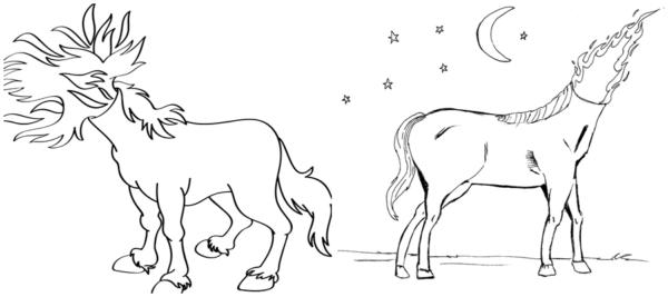 dessins de la mule sans tête à peindre