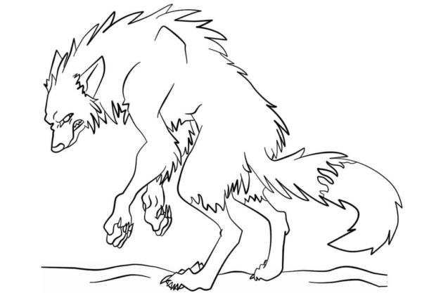 Activité loup-garou à peindre